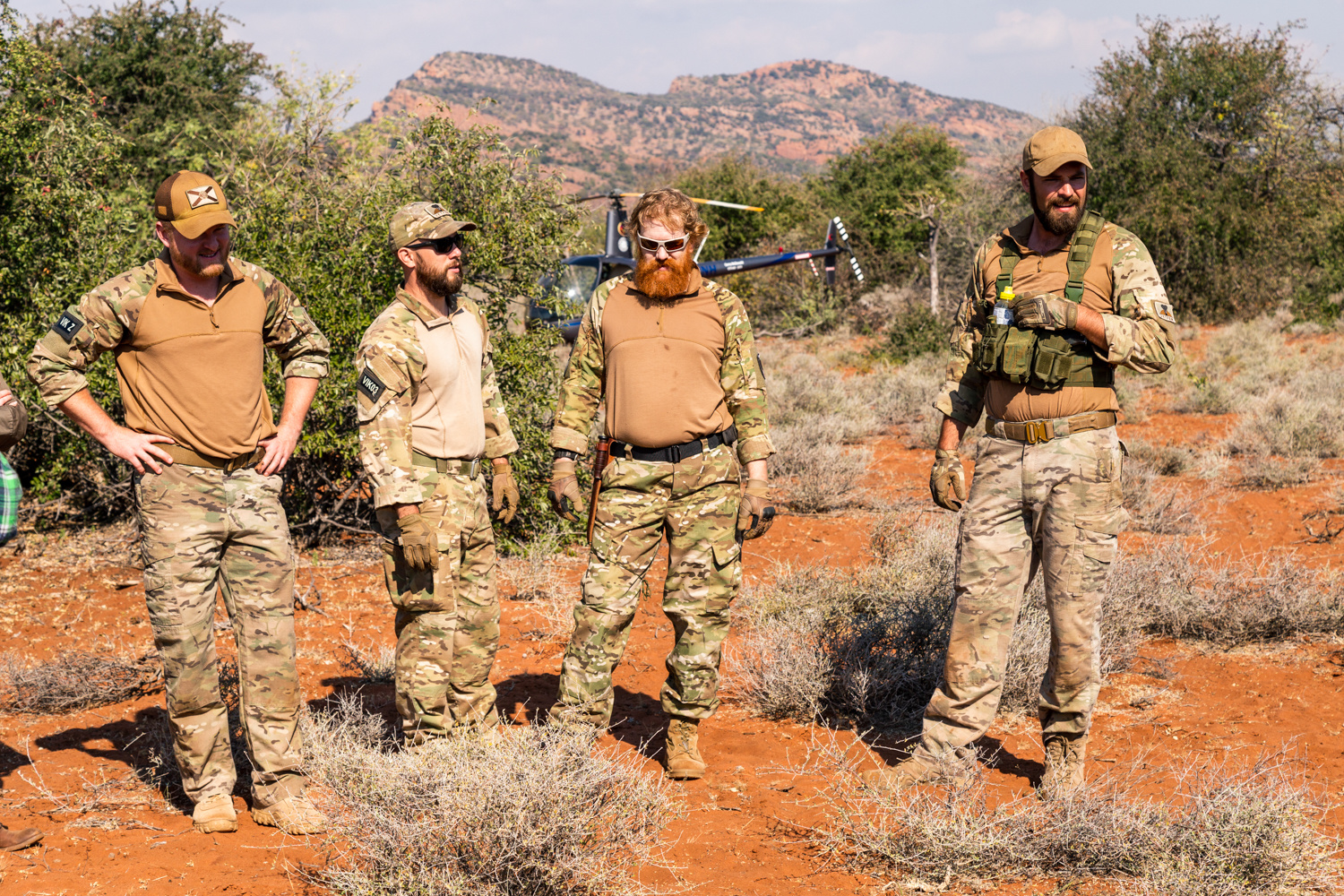 Conservation photography with US veterans in Africa