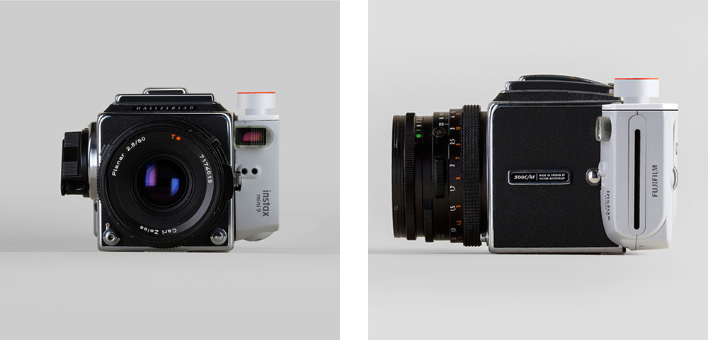 Building a hybrid camera from a hasselblad and a fujifilm instax