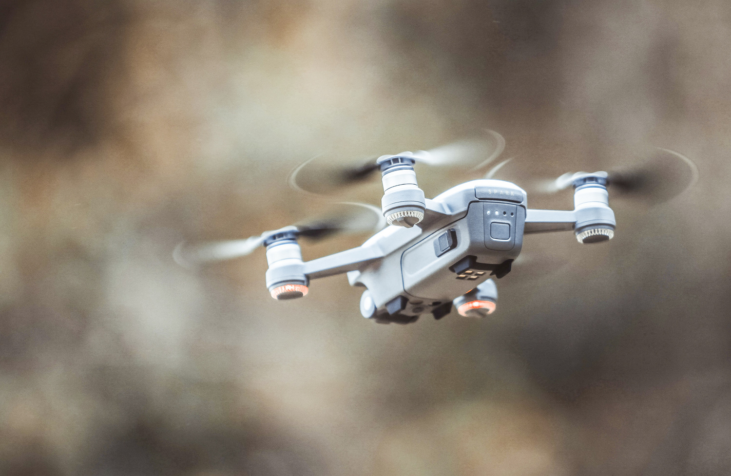 a photo of a drone mid-air in flight