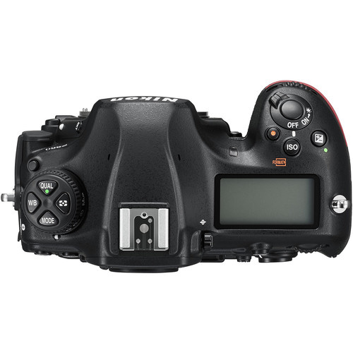 Top view of the Nikon D850 camera