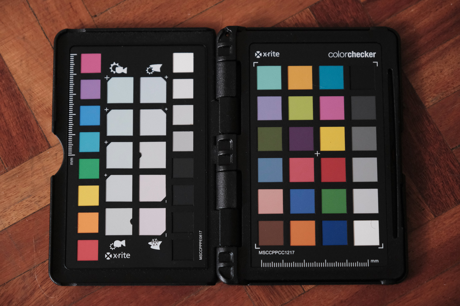 a JPEG of a colorchecker passport set to Classic Chrome