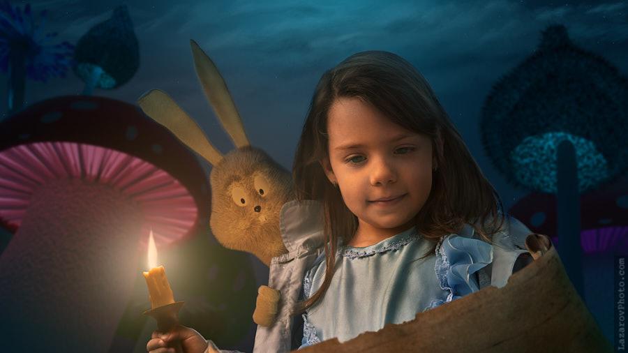 Alice in Wonderland - Mushrooms Forest