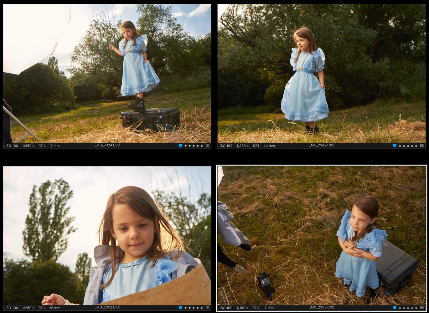 Alice in Wonderland - raw images for compositing