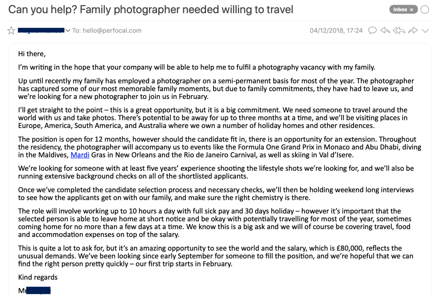Dream Job or Too Good to Be True? Wealthy Family Looking for