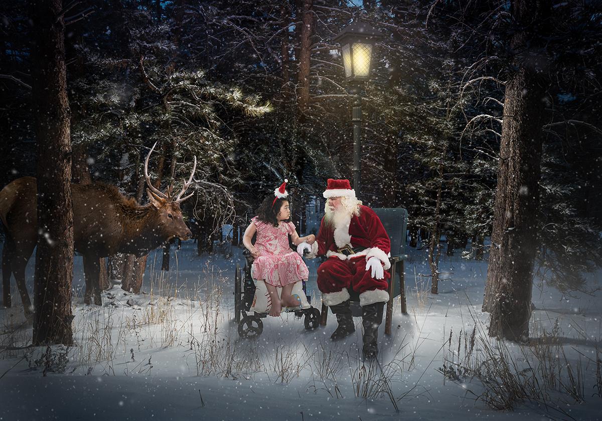 Santa Christmas Child Reindeer