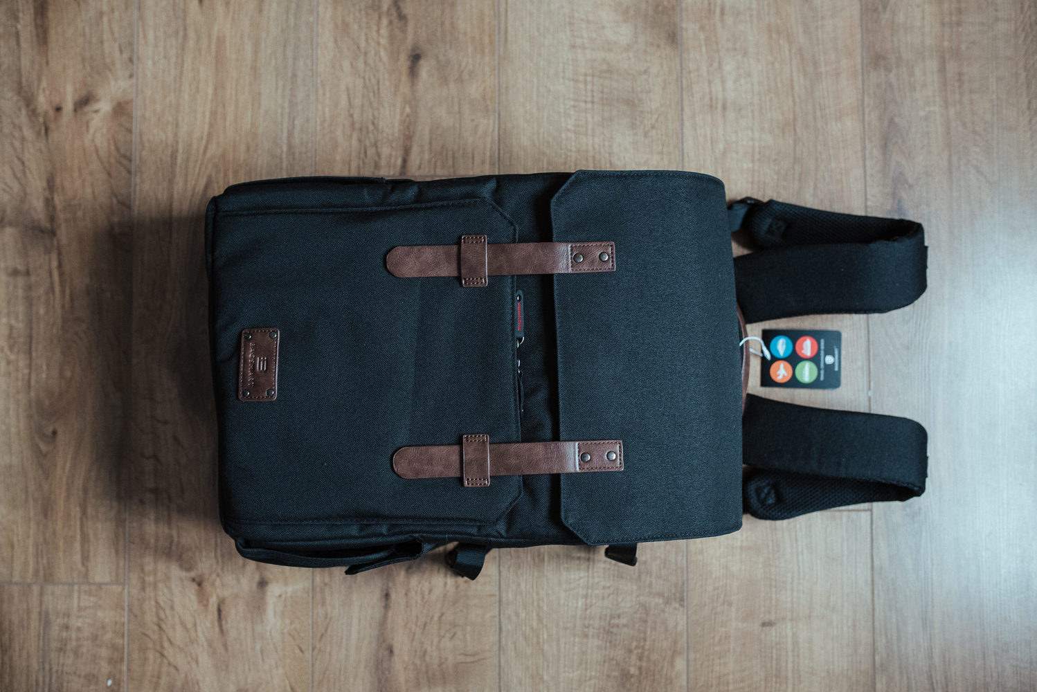 Black photography backpack