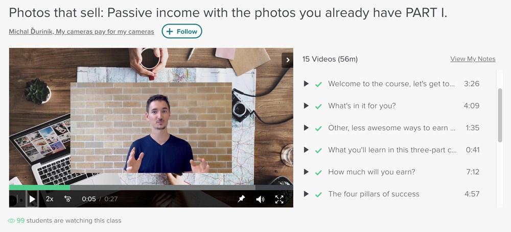 Passive income through stock photography - learn how with Skillshare