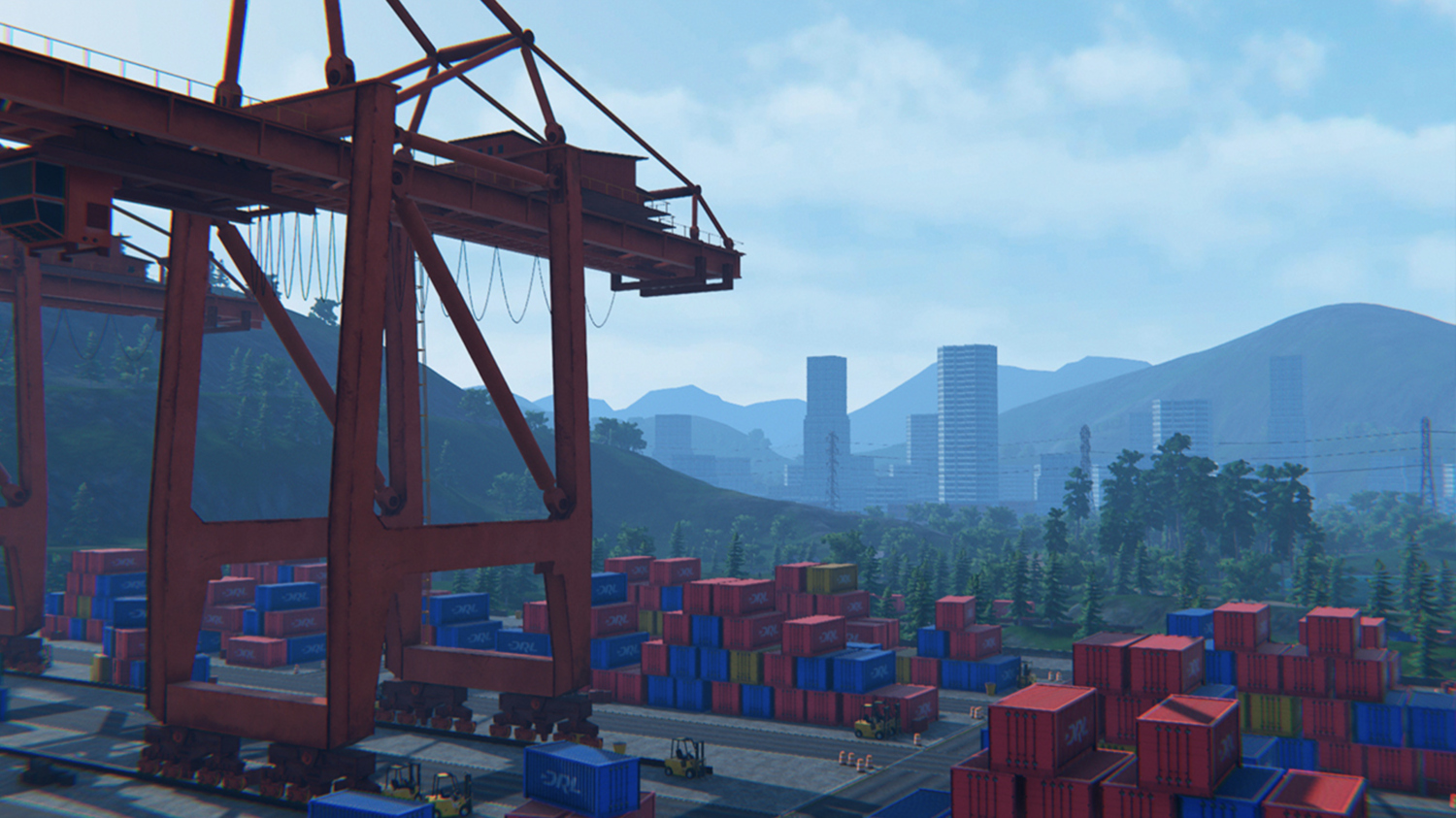 DRL Simulator: Overlooking Shipyard and City at Gates of Hell