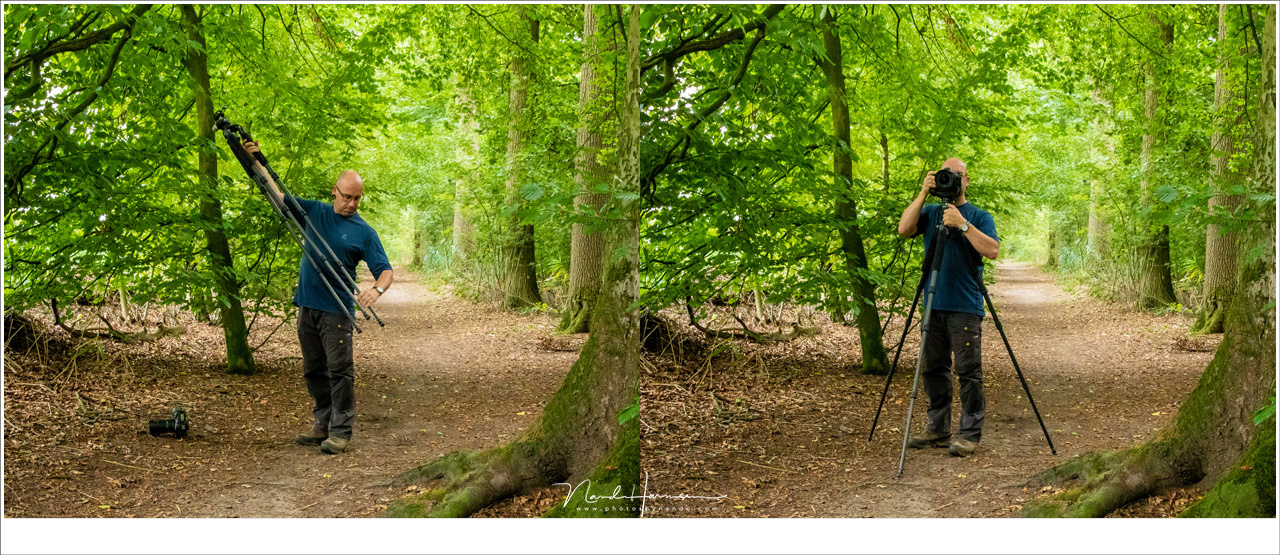 You bought a tripod that is the same height as your length so you can use it without crouching. But it isn't always the height for the best composition.