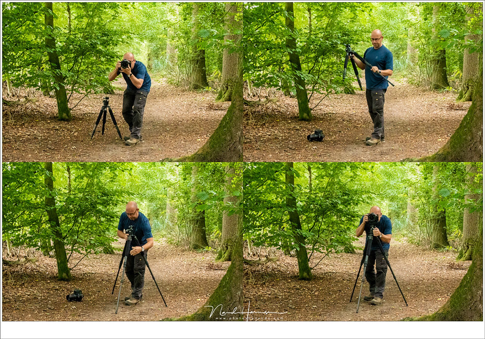 Now you know where you want your camera, and at what height, you can extend the tripod legs to the right length in one go. Easy.