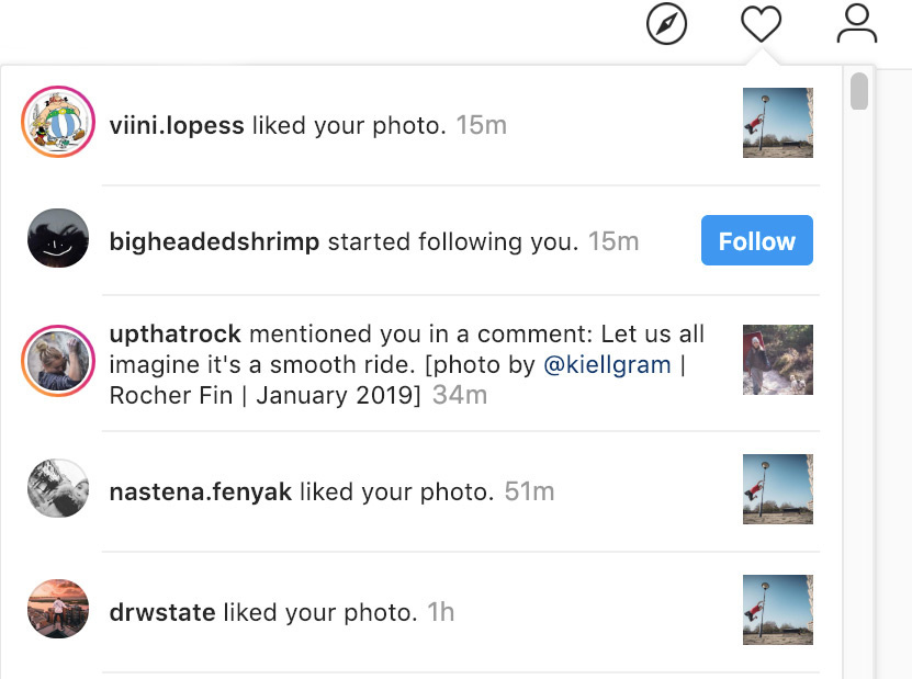 Instagram should separate likes from mentions in notifications