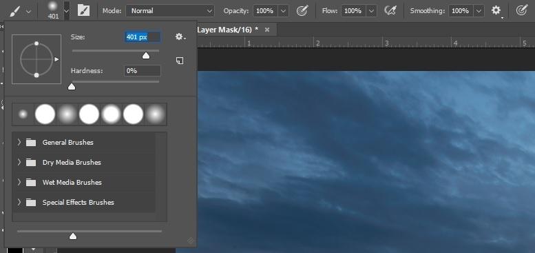 Example brush settings for blending in Photoshop