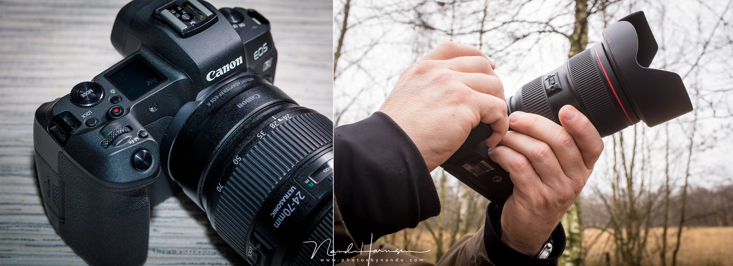 For me the Canon is perfect is size and the grip feels very convenient. The ergonomics make it easy to shoot with one hand.