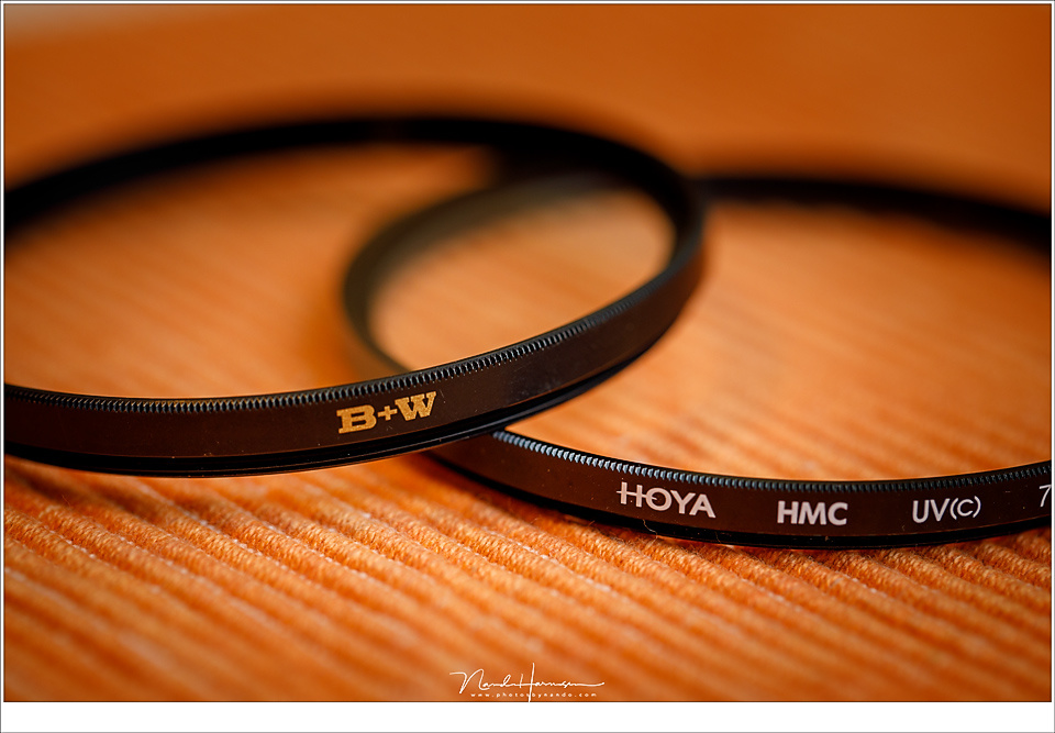 A couple of modern UV filters, specially made for autofocus lenses. Do these filters have any use, or are they relics from the beginning of photography?