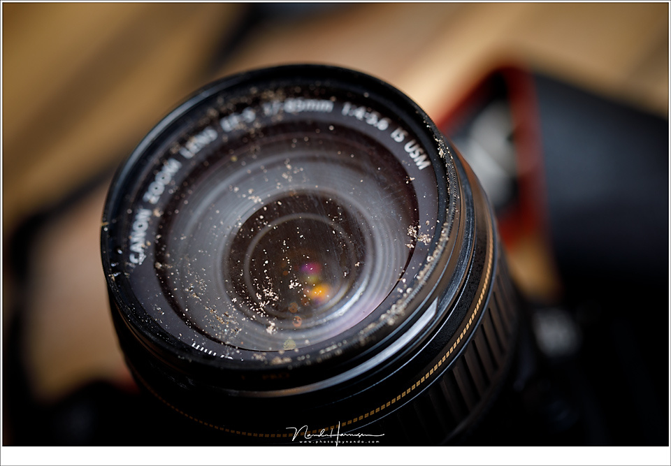 If you end up with such a dirty filter, just remove it and rinse it. You wouldn't want to do that with the lens itself. For these situations a UV filter has its benefit