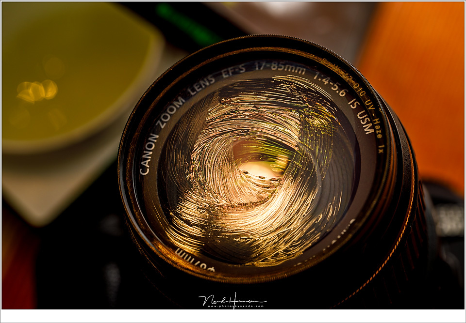 Being creative, making a soft focus lens by applying some Vaseline to the filter.