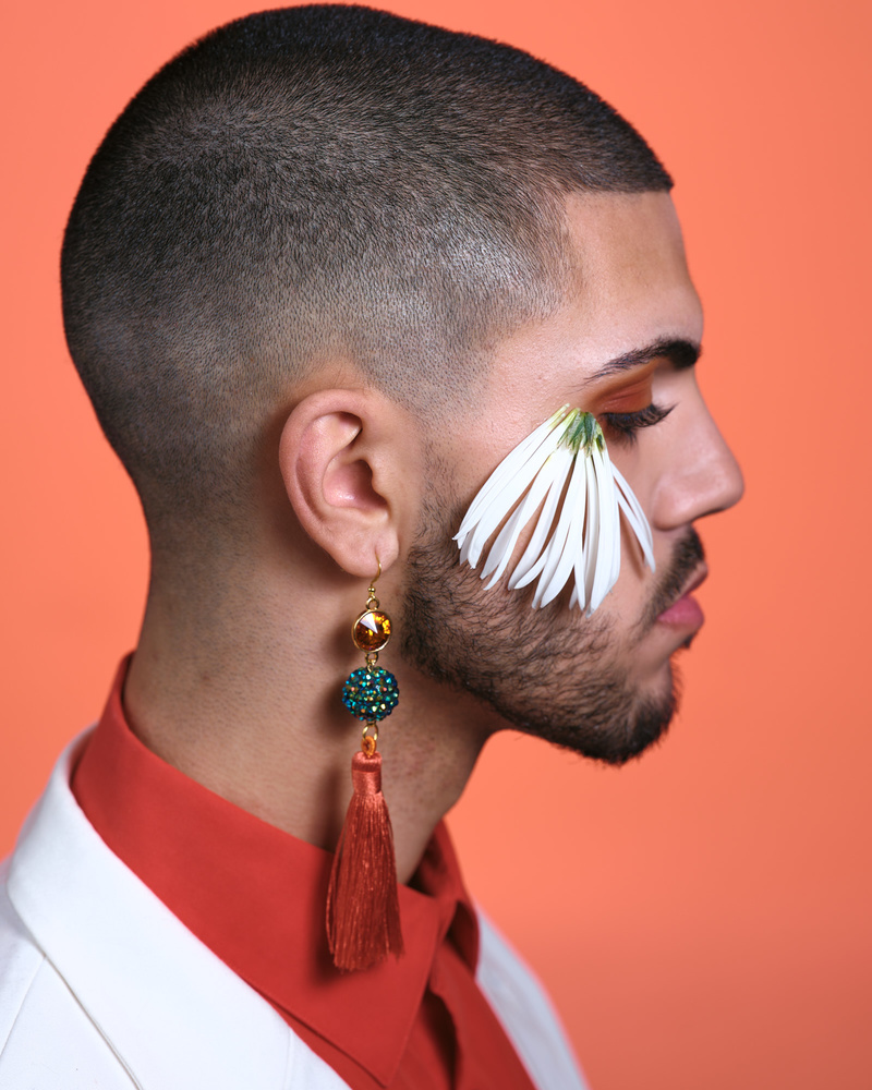 Colour Corrected photo of Male Beauty Shoot
