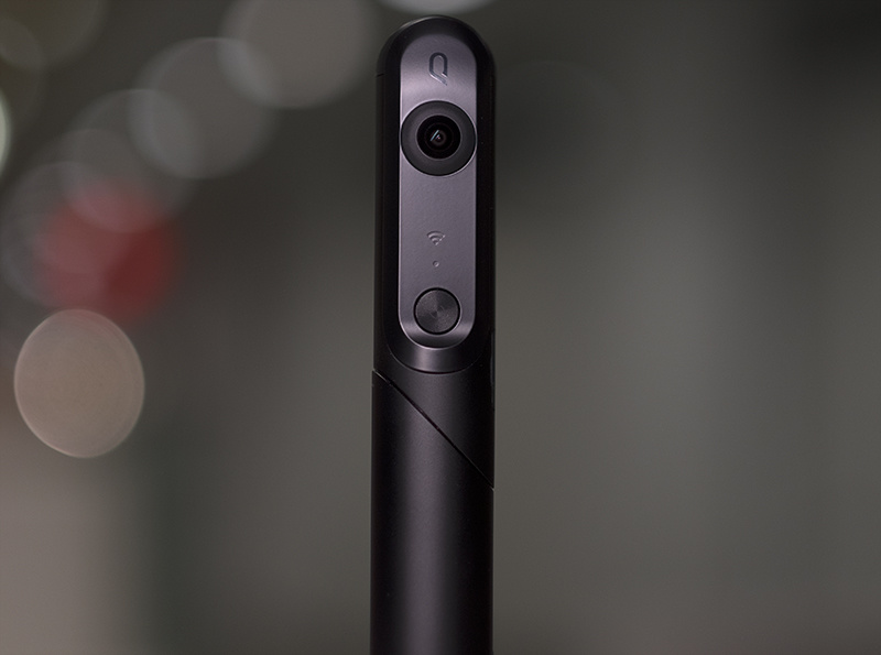 The Kandao QooCam in its 360 video/photo position.