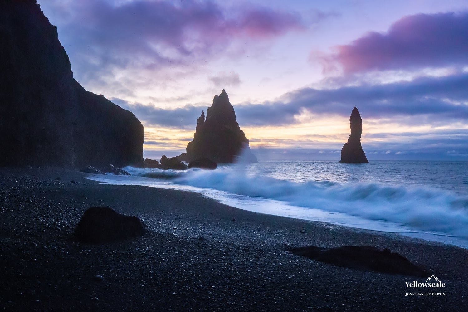 The sea stacks at Reynisfjara near Vik, Iceland