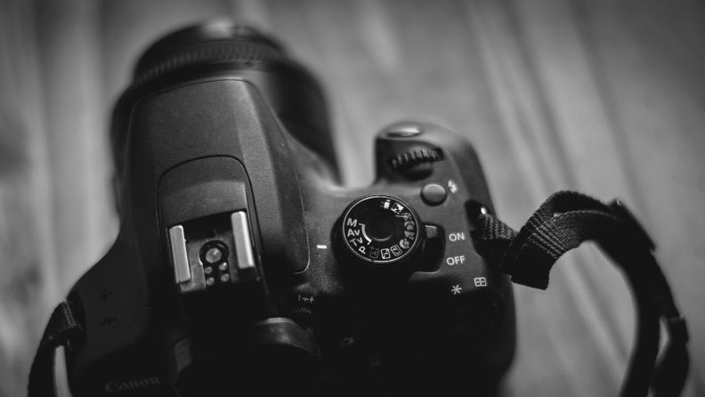 Canon dial, aperture priority