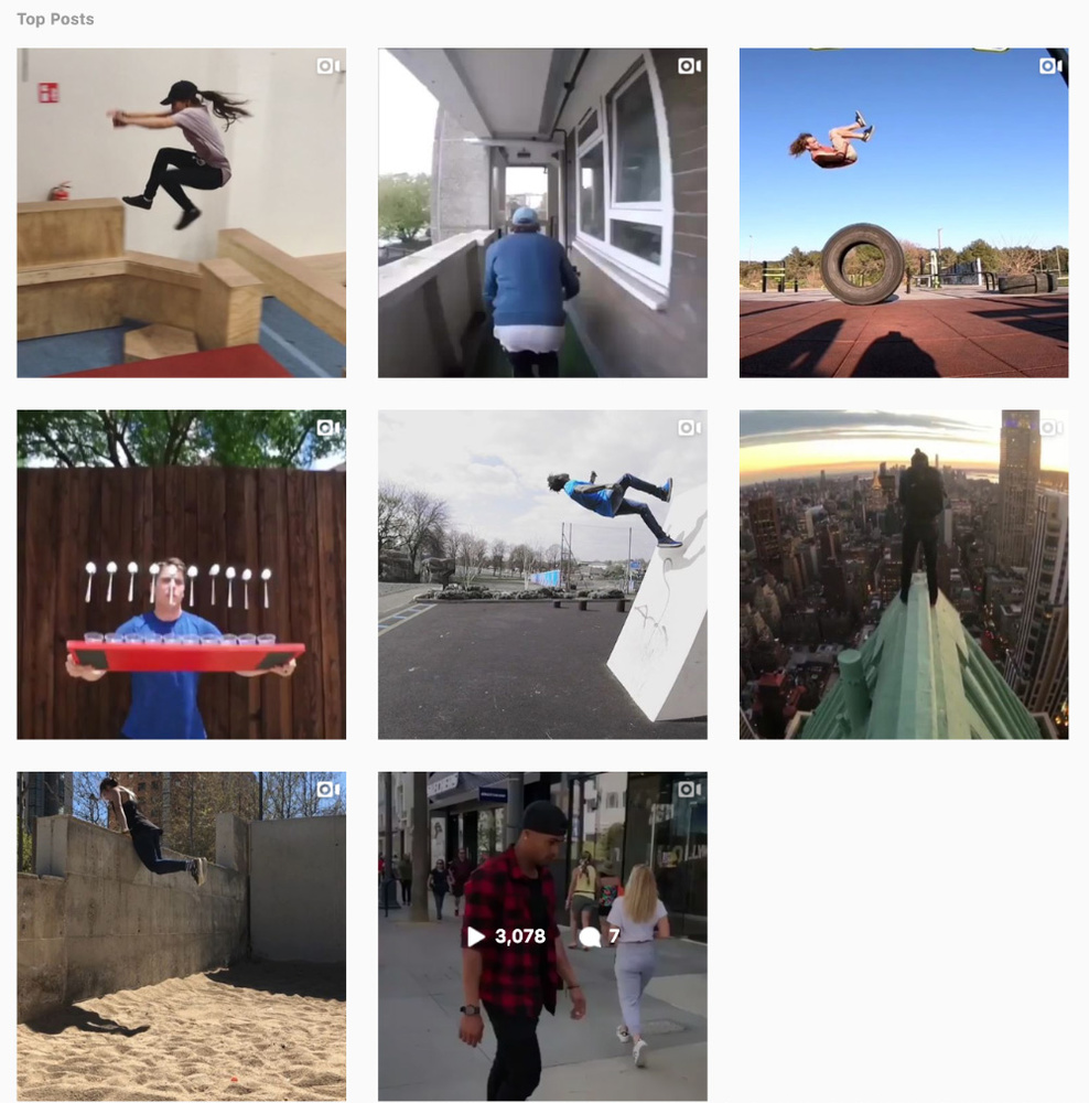 Instagram parkour hashtag top posts