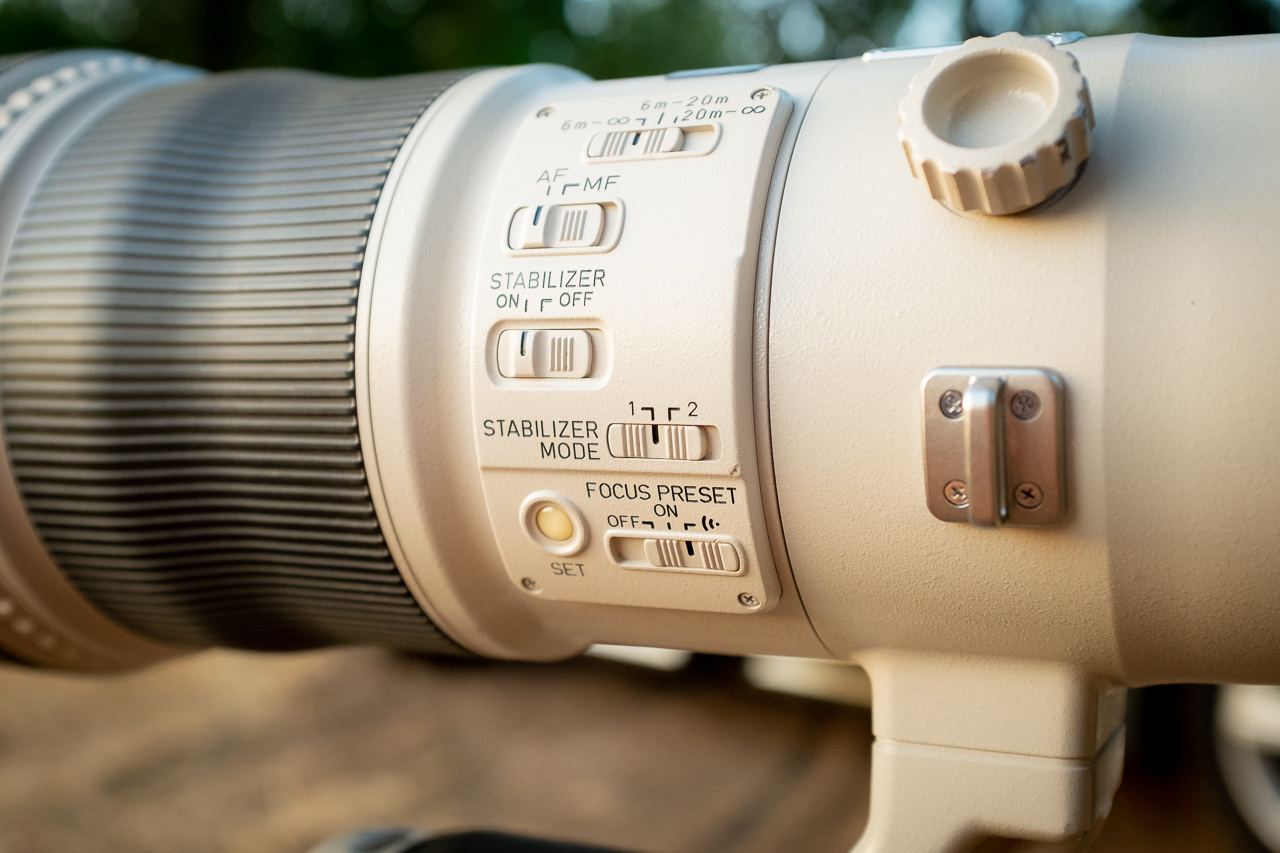Large telephoto lenses often have image stabilization build in. You can choose from different settings, that fit the kind of photography you want.