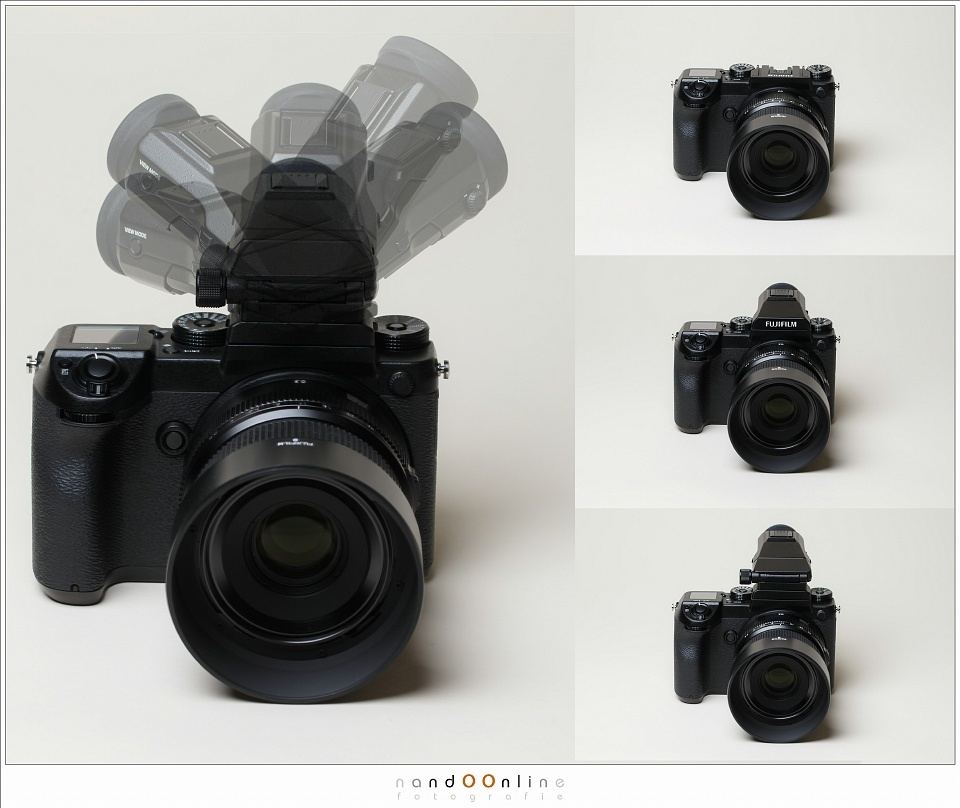 The Fujifilm GFX shows a part of the possibilities of the EVF.