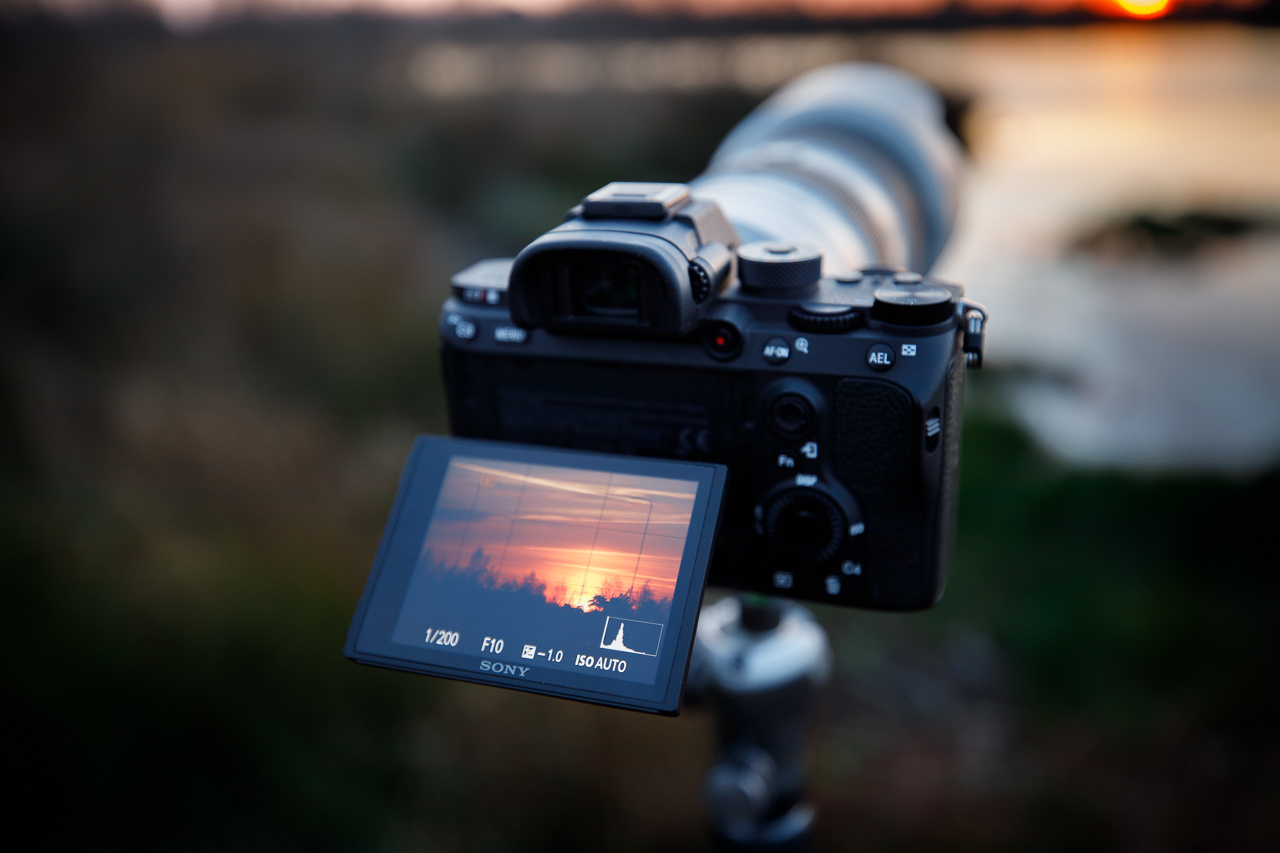 Always check the histogram and don't rely on what the image on the LCD screen or the EVF tells you. The histogram is not influenced by the ambient light.