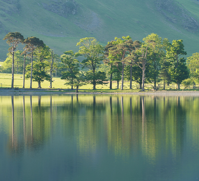 Symmetry in composition, Buttermere, Lake District