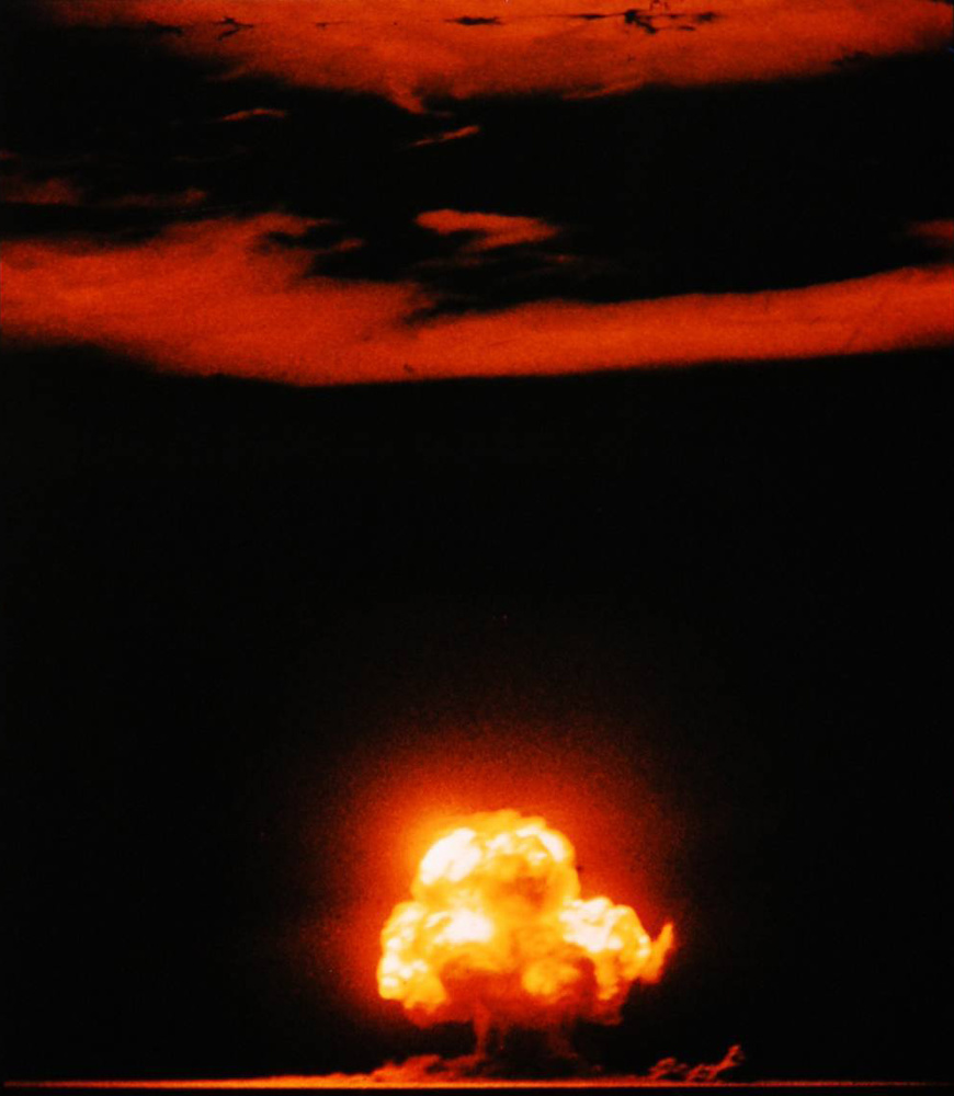 Jack Aeby's photo of the first nuclear test, the Trinity Shot