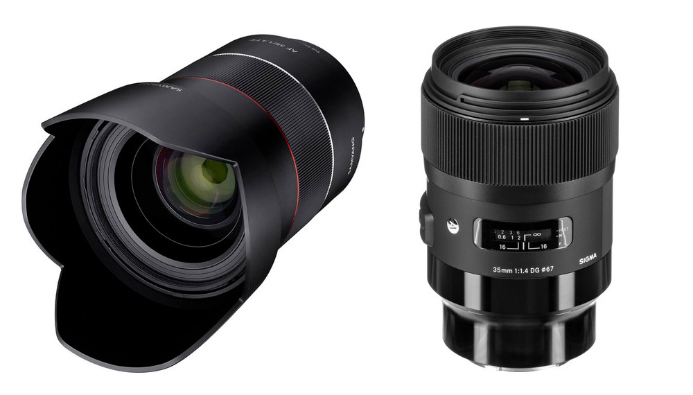 Samyang and Sigma 35mm f/1.4 lenses