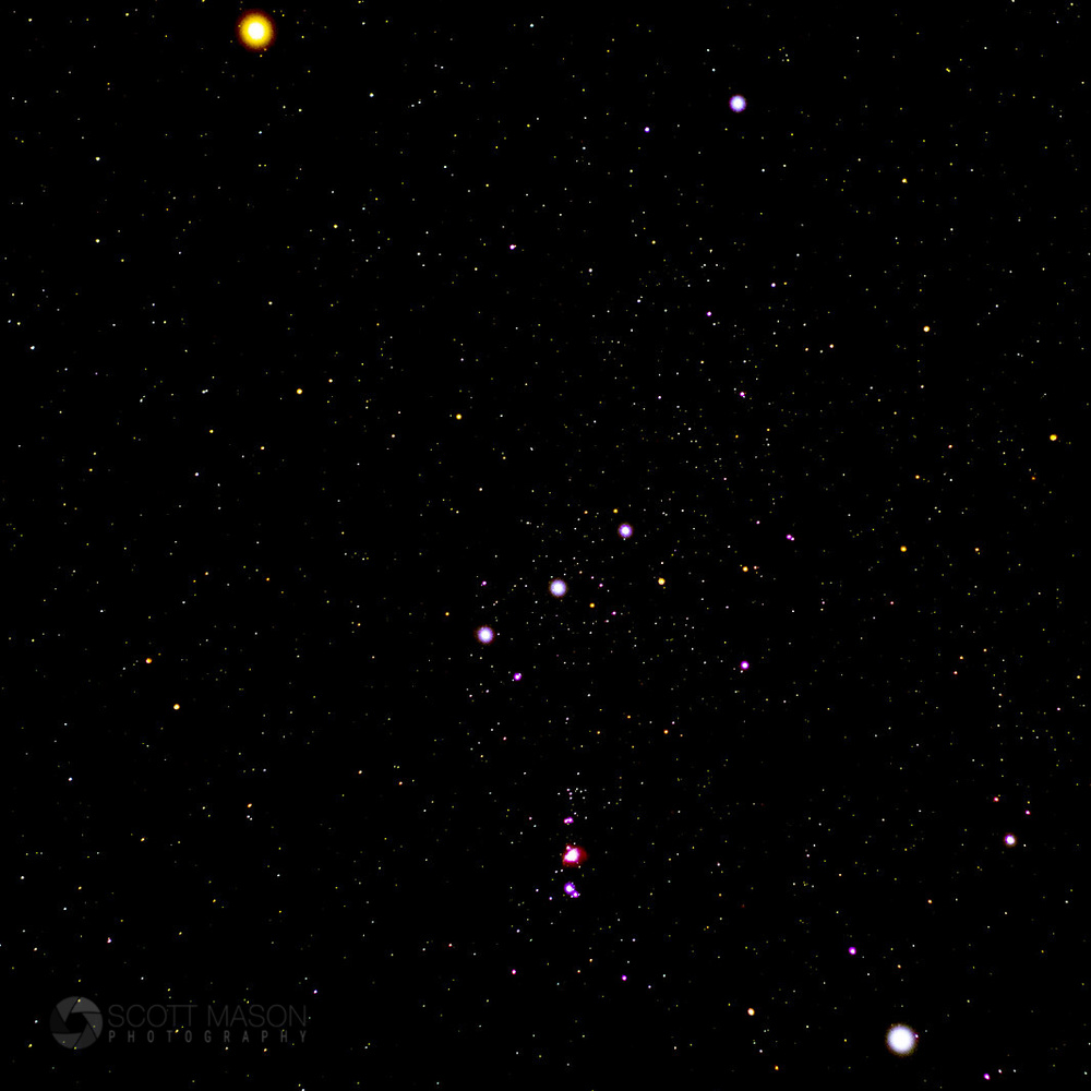 An image of the orion constellation