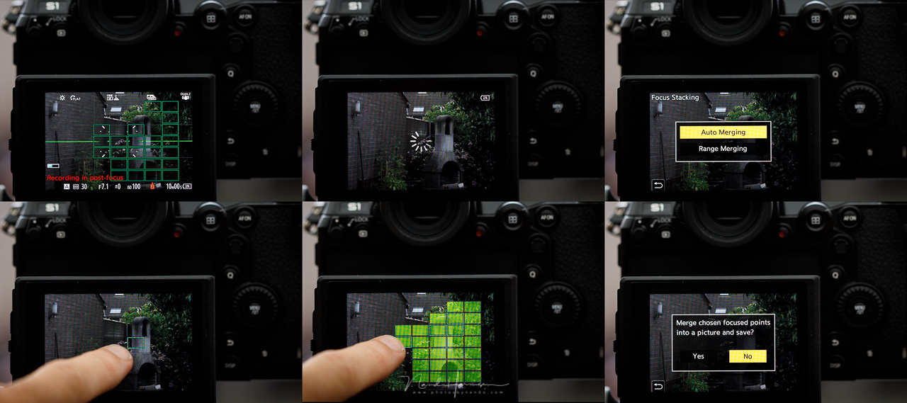 Post focus / focus stacking is another option build into the Lumix S1, just like I saw with the Lumis G9 and GX9. Unfortunately the result is only in JPG, so take care of your exposure first.