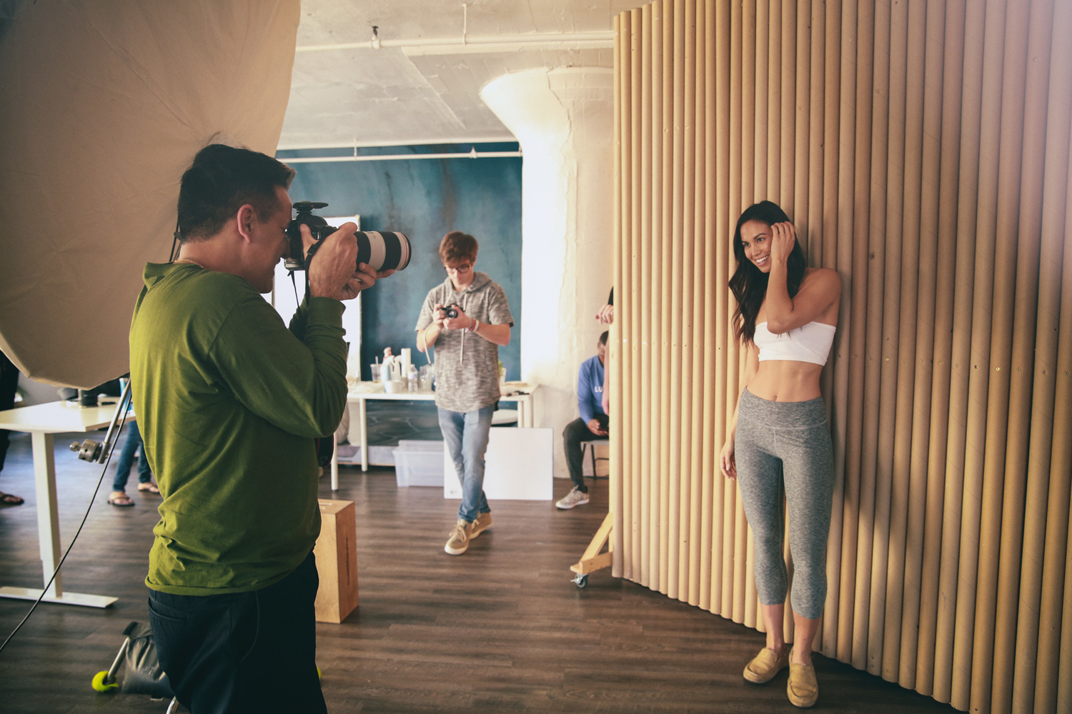 Walid Azami photographing a skincare campaign