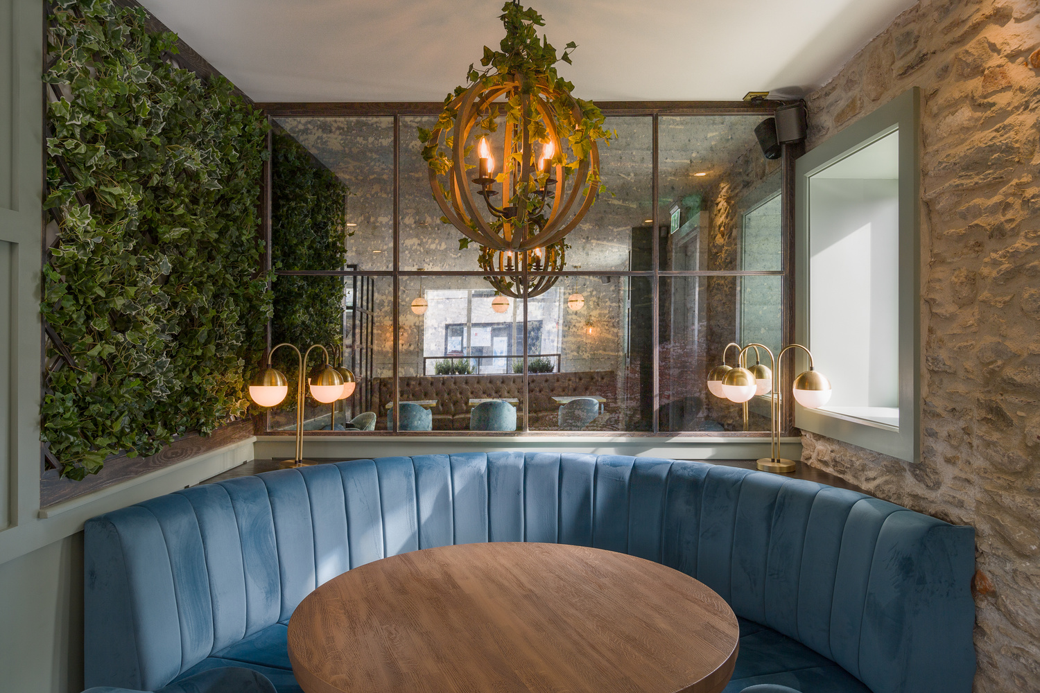 professional photography of restaurant seating in Ireland
