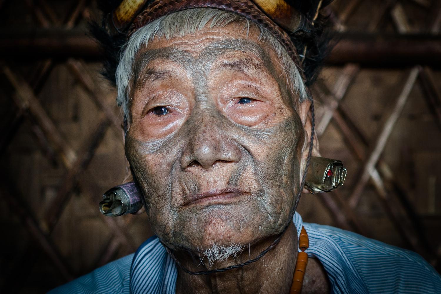 An elderly man in Nagaland