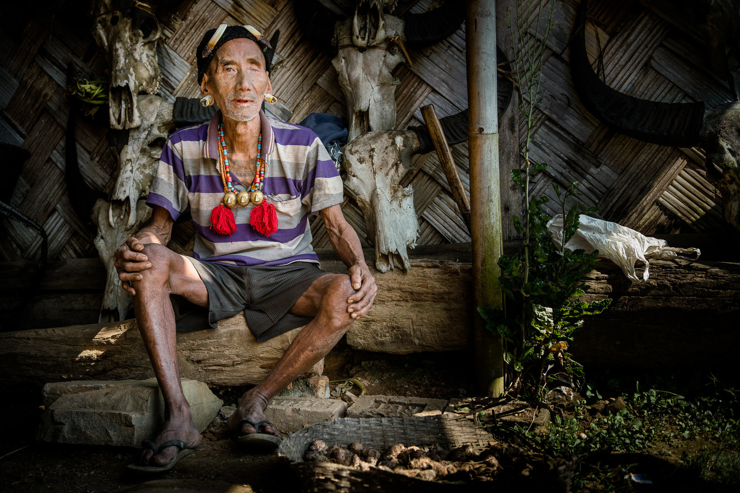 A local man in Nagaland sat down
