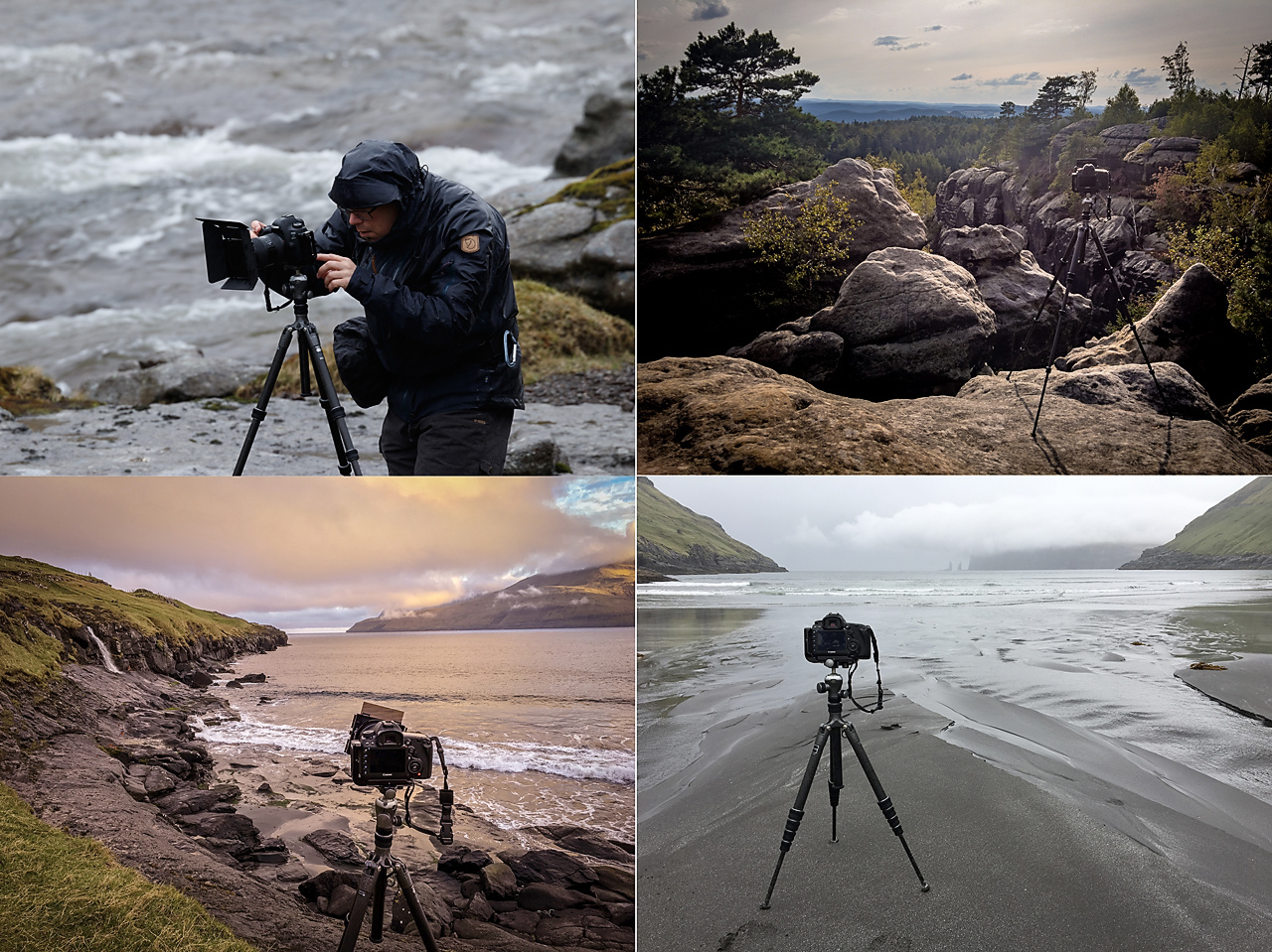 A couple of impressions, most of them from our trip to the Faroe Islands in 2018, and one from the last trip to Germany. The tripod is very versatile because it can be uses for my lightweight camera, and my dslr as well.