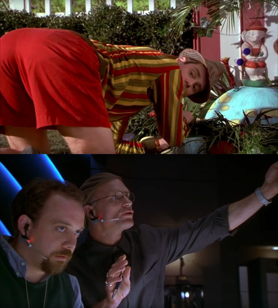 "Comparision of lighting in two scenes from ""The Truman Show"""