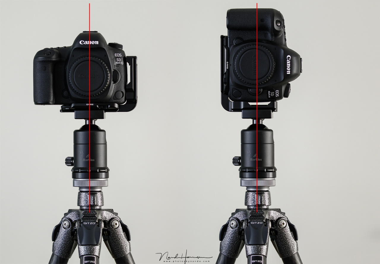 Using a L-bracket the camera stays above the center of the tripod, no matter what orientation it is in. It is much more stable, but also the composition is maintained.
