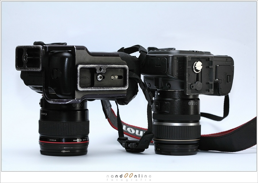 The difference between a normal cameraplate and a L-bracket. This L-bracket fits the camera like a glove