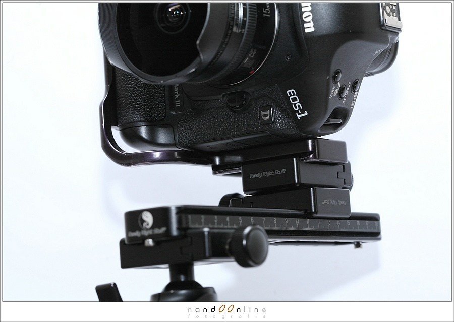 An L-bracket makes it very easy to use a nodal slide for panoramic photography.