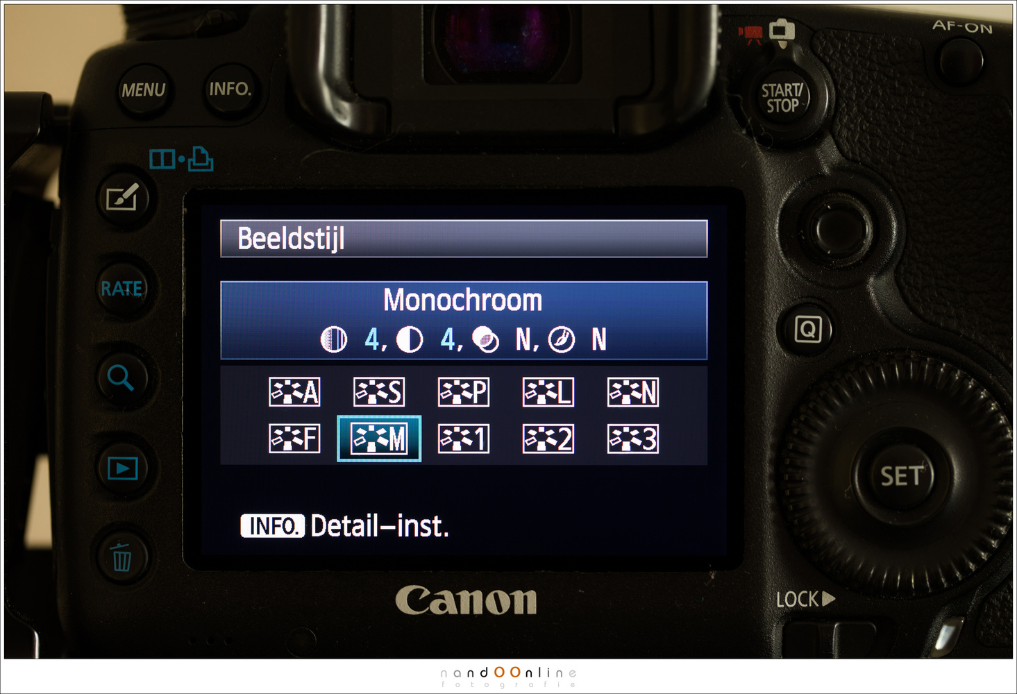 The monochrome picture style is one of the options Canon offers. This may vary with different camera brands. Fujifilm camera have also different black and white versions available, for example. You should check your camera for the possibilities..