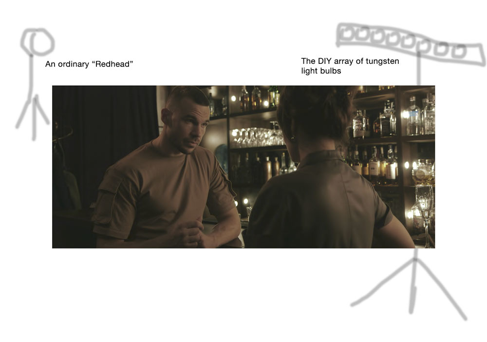 Before Love Ends: Bar scene, lighting diagram