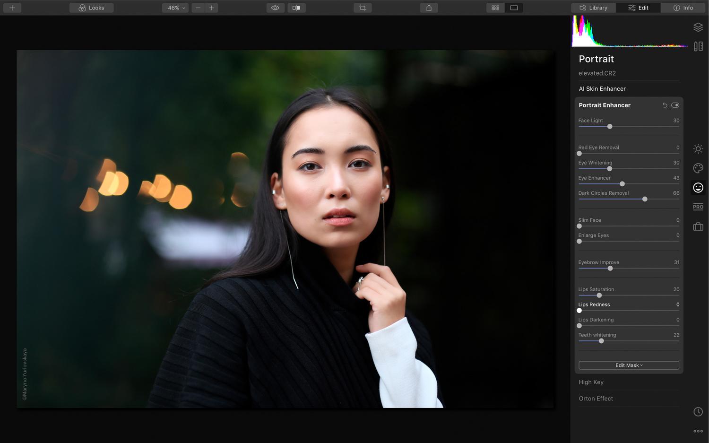 Luminar 4 photo editing software screenshot