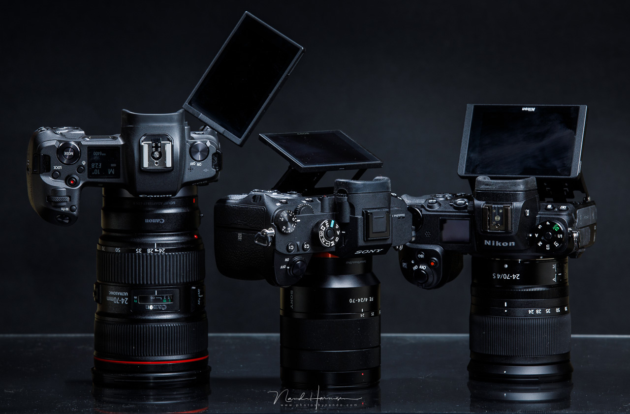 A mirrorless camera lacks a optical viewfinder. You might have the WYSIWYG experience, but the optical viewfinder has its benefits.