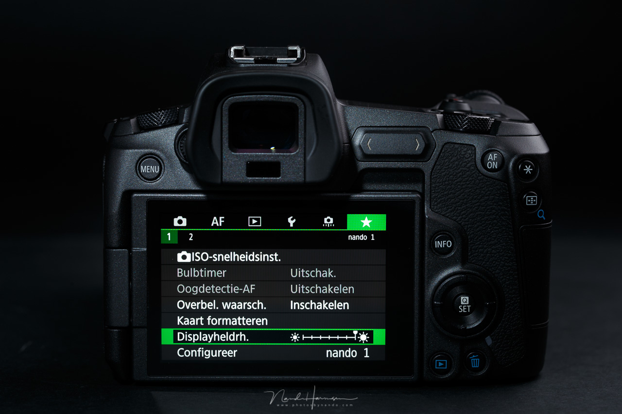The My Menu tab of a Canon camera, where you can gather a collection of menu functions for easy access. Canon offers the possibility to make multiple My Menu tabs.