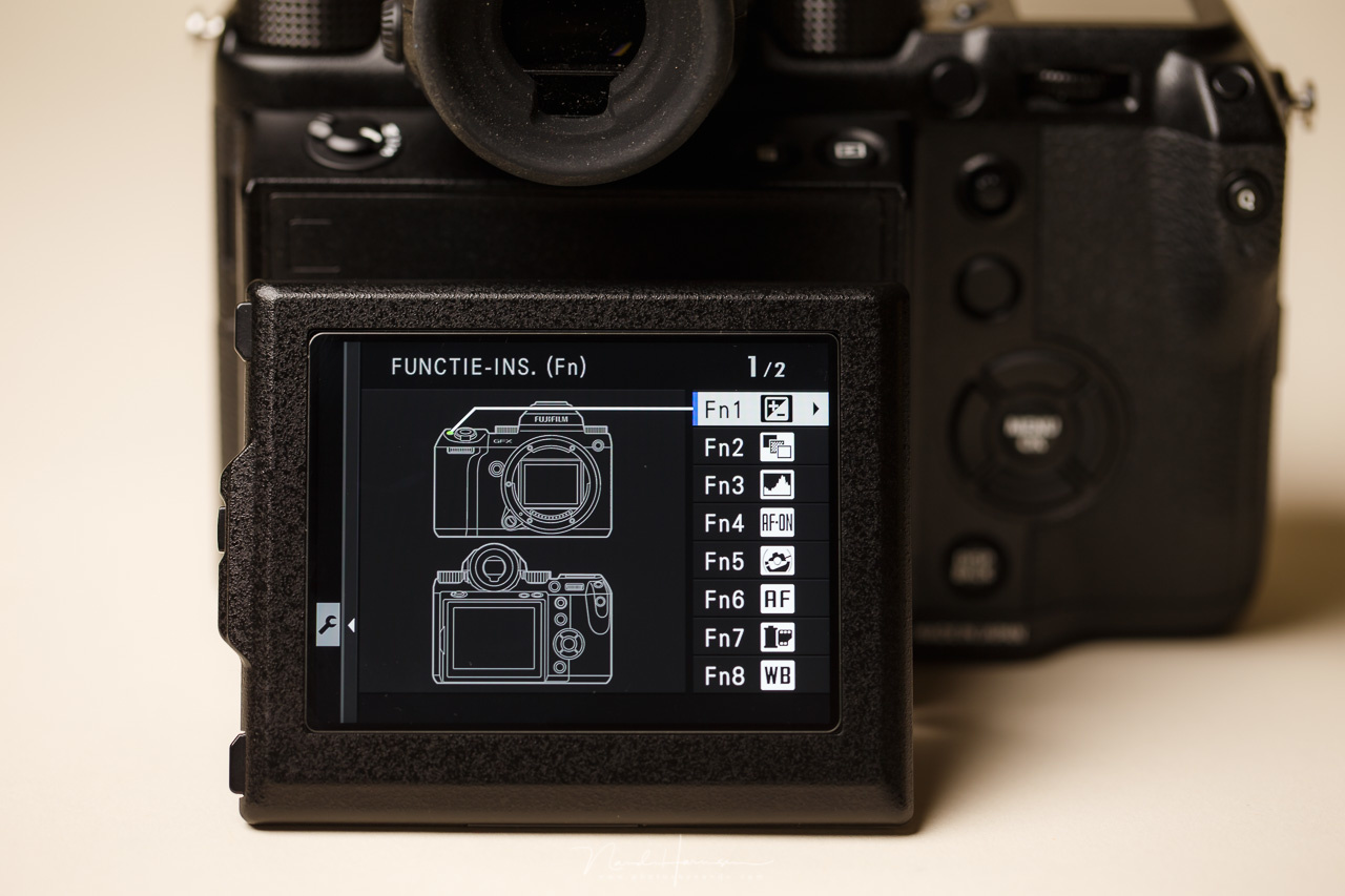 The button custumization of a Fujifilm camera. You can make your camera very personal, having the most options available with the push of a button.