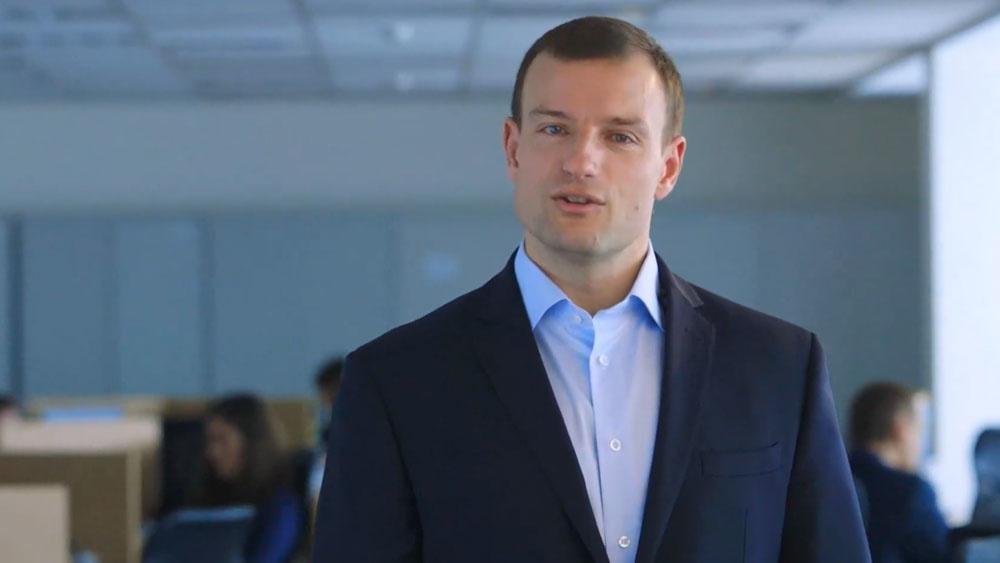 Screenshot from a corporate video