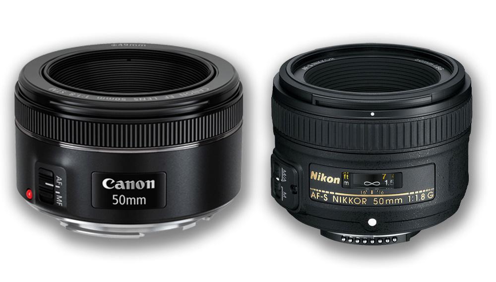 Canon and Nikon nifty fifties